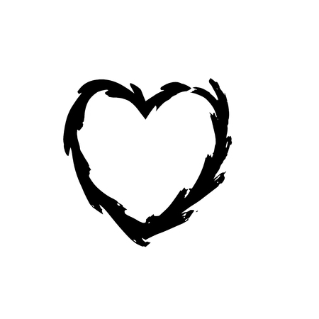 Heart Shape Symbol Love Vector Black Heart Symbol Wedding And