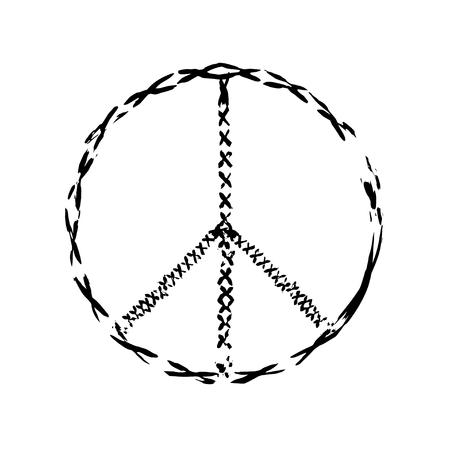 simbolo della pace: pace simbolo icona del vettore. La guerra e la pace amicizia pacifismo. illustrazione della pace Vettoriali