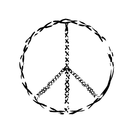 symbol of peace: peace symbol icon vector. War and peace friendship pacifism. peace illustration Illustration