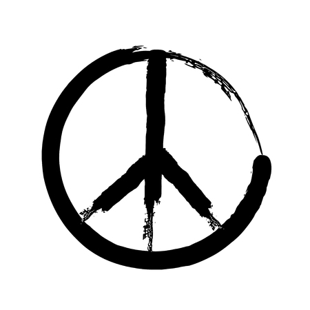 pacifism: peace symbol icon vector. War and peace friendship pacifism. peace illustration Illustration
