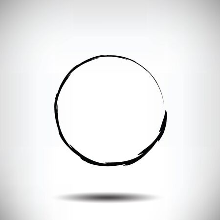 fading: Pinstripe circle grunge black background. Vector background with shadow. Textured circle. Stroke volume.