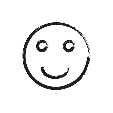fading: Smile face grunge icon symbol Emoji. Textured line. Black smile. Vector smile Illustration