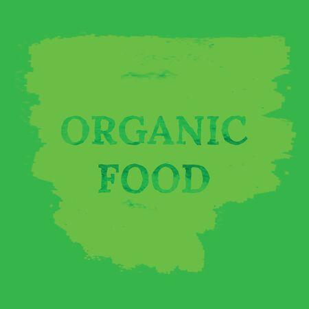 Organic food eco watercolor background. Grunge vector green background Иллюстрация