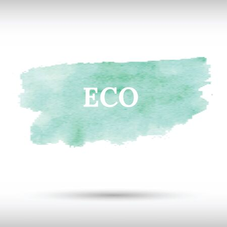 Eco green watercolor background. Gradient mesh. Realistic environmental background Иллюстрация