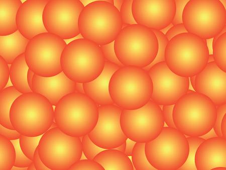 Orange balls abstract background. Three-dimensional geometric figures Фото со стока
