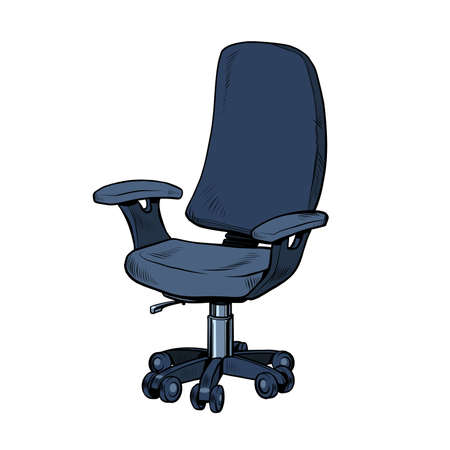 Simple office work chair, isolate on a white background