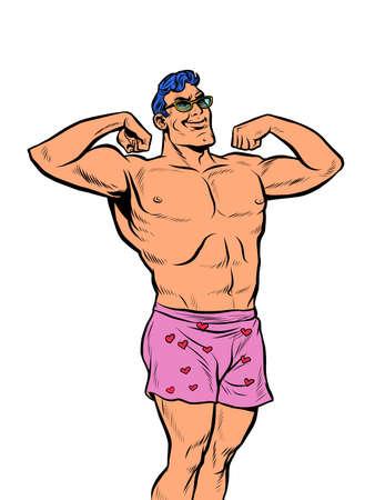 Muscular man in underpants