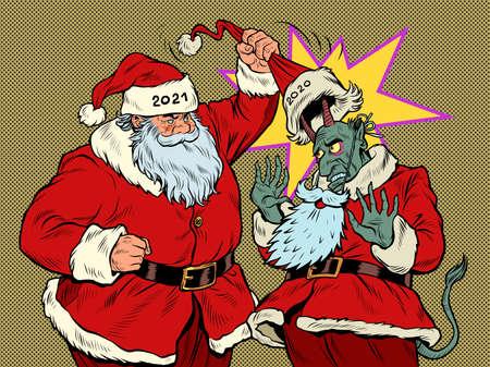 Santa Claus 2021 Reveals The Evil 2020 Иллюстрация