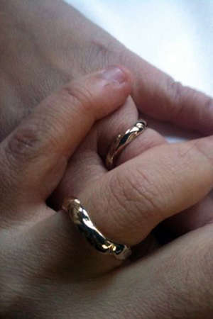 coming together: rings, wedding rings for marriage, who join hands, hearts coming together for life