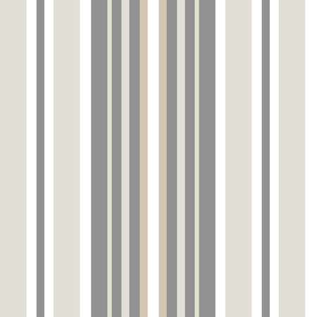 Classic shirting stripe in warm neutral colors, white, hues of brown, grey. Seamless vector pattern. Great for textiles, stationery, home decor, gift wrapping paper, product packaging. Sophisticated