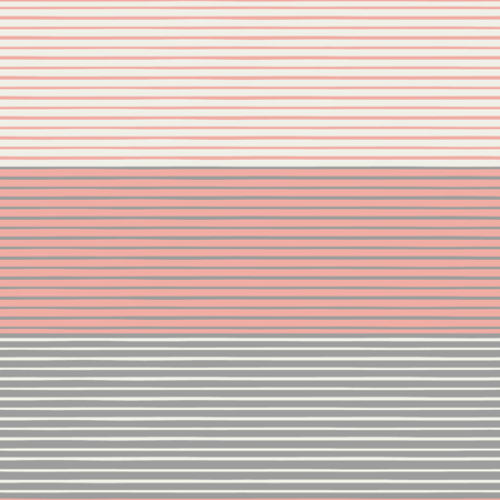 Vibrant densely striped design in coral, pastel browns and cream white colours. Seamless vector pattern in fresh modern neutrals. Perfect for stationery, textiles, home decor, giftwrapping, packaging. Иллюстрация