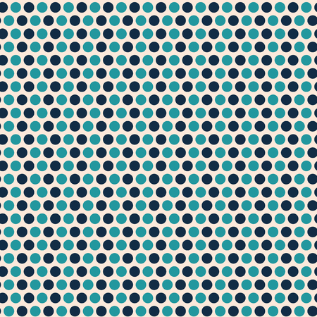 Contemporary light and dark blue polka dot seamless vector pattern with a cool vibe. Great for packaging, as coordinate, stationery, giftwrap, textile, home decor, web texture, marketing material.