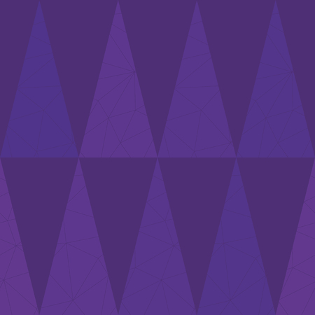 Luxurious purple geometric triangle design on lightly textured purple background. Seamless vector pattern. Perfect for luxury, wellbeing, yoga, beauty products, home decor, gift wrap, stationery