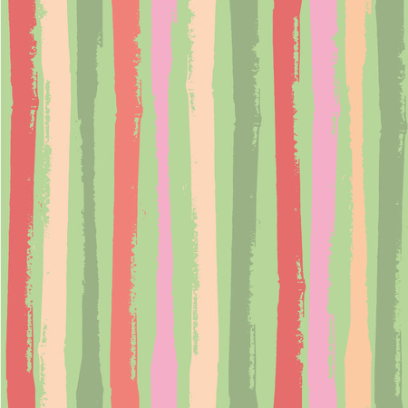 Modern vertical grunge stripes in vibrant tropical colours. Bright seamless vector pattern on green background. Great for wellbeing, party, organic, beauty, spa products, fabric, giftwrap, stationery. Illustration