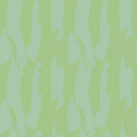 Abstract blue green overlapping watercolor effect foliage texture. Seamless vector pattern with fresh vibe. Perfect for packaging, web, beauty, wellness, garden products, fabric, stationery.