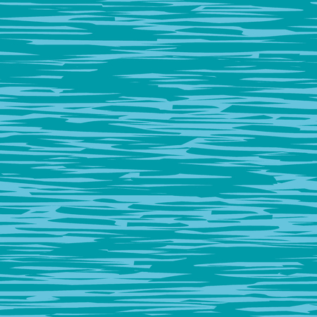Abstract blue and teal painterly water surface effect texture. Vector seamless grid pattern with horizontal direction. Perfect for packaging, sports wear, wellness, beauty products, stationery fabric Illustration