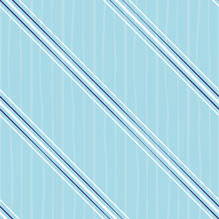 Irregular blue and white diagonal stripes design. Seamless vector on cool blue background with subtle doodle stripe texture. Great for summer, wellness, beauty, spa products, stationery, scrapbooking.