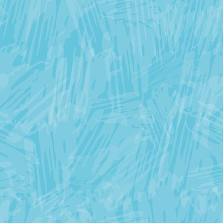 Delicate white cirrus cloud effect painterly texture. Seamless vector pattern on sky blue background. Perfect for packaging, wellness, spa, beauty products, concept, texture, stationery, fabric.