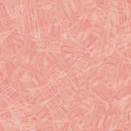Transparent painterly texture in shabby chic style. Seamless vector pattern on soft melon pink background . Perfect for packaging, wellness, beauty, spa products, concept, texture, stationery.