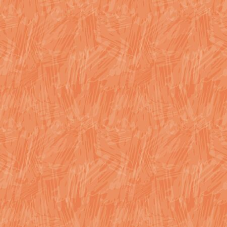 Delicate translucent painterly texture. Seamless vector pattern on vibrant orange background with tropical vibe. Perfect for packaging, wellness, beauty, yoga products, concept, texture, stationery.