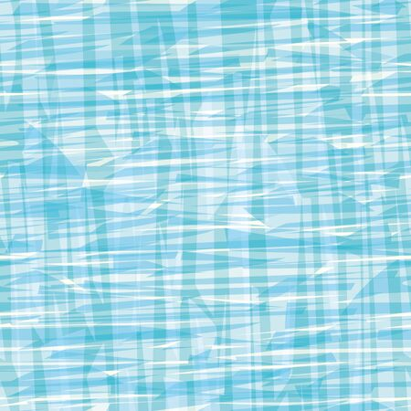 Abstract blue and white painterly canvas or water effect texture. Seamless vector pattern with transparent shapes. Perfect for packaging, sports wear, wellness, beauty products, stationery fabric