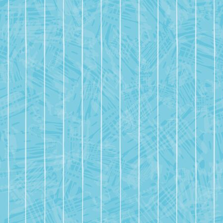 White hand drawn irregular striped design. Seamless geometric pattern on beautiful colour wash aqua blue background. Perfect for wellness, beauty, sports products, home decor, stationery and texture.