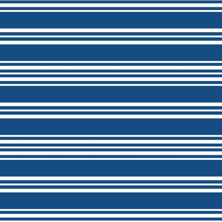 Classic nautical design with sets of wide and narrow white stripes. Seamless vector geometric pattern on navy blue background. For nautical, summer products, bed linen, bathroom, sport, packaging