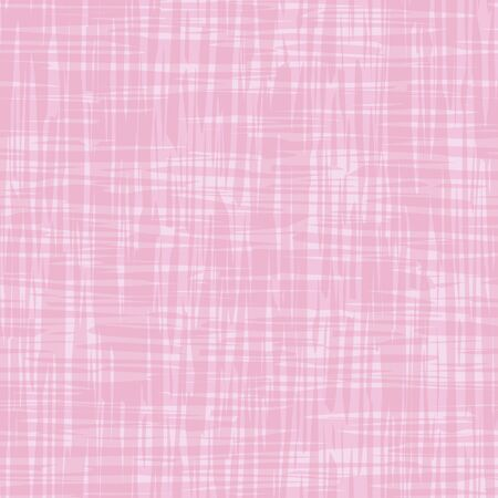 Vector painterly canvas surface texture. Organic seamless pattern colorwash brush stroke effect. Pink repeat fabric style with transparent shapes. All over cloth print for packaging, stationery