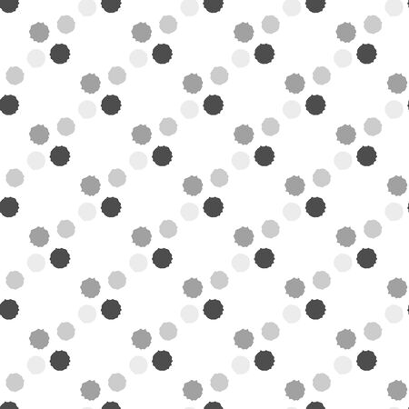 Conceptual moon crater vector seamless pattern background. Grunge style hand drawn celestial asteroids black and white backdrop. Modern all over print of meteor imprints for fun stationery, packaging Иллюстрация