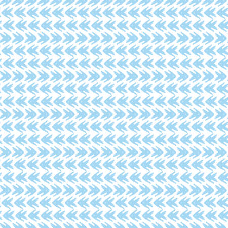 Vector tribal arrow style grunge brush seamless pattern background. Rows of painterly chevrons on white backdrop. Wicker weave effect design texture. All over print for fabric, packaging baby products