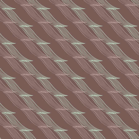 Abstract vector diagonal lines seamless pattern background. Backdrop with cascading 3D effect zig zag double ribbon parallel stripes. Linear geometric all over print for packaging, paper print
