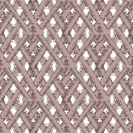 braid effect damask weave seamless interlace pattern background. Woven style ribbon plait lattice on white backdrop. Geometric baroque knotwork Elegant all over print for packaging