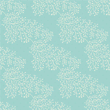 Jacquard effect wild meadow grass seamless pattern background. Monochrome blue backdrop of leaves in beautiful geometric damask design. Botanical baroque foliage all over print for baby fabric.