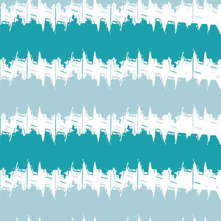 Vector woven fabric stripe effect texture seamless pattern background. Horizontal aqua blue zig zag weave style geometric backdrop. Abstract chevron modern design. All over print for summer, vacation