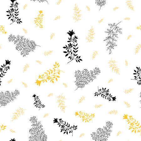 Jacquard effect wild meadow grass seamless vector pattern background. Monochrome aqua blue backdrop of scattered leaves. Damask style design. Botanical modern foliage repeat. All over print. Illusztráció
