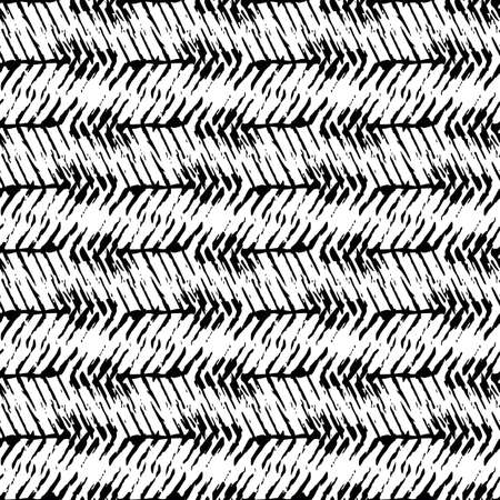 Vector herringbone weave effect seamless pattern background. Hessian fiber texture fabric style black and white backdrop. Woven linen cloth repeat design. Modern texture material all over print.