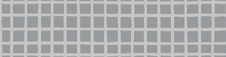 Modern paint brush graph grid vector seamless border. Monochrome grey banner with varying handmade painterly continuous lines and stripes. Abstract neutral design for ribbon, edging header. 免版税图像 - 167082763