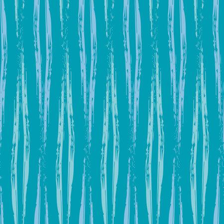 Vector wicker weave effect seamless interlace pattern background. Wide painterly ribbon plait lattice monochrome aqua blue backdrop. Faux rattan basket woven texture. Repeat for packaging