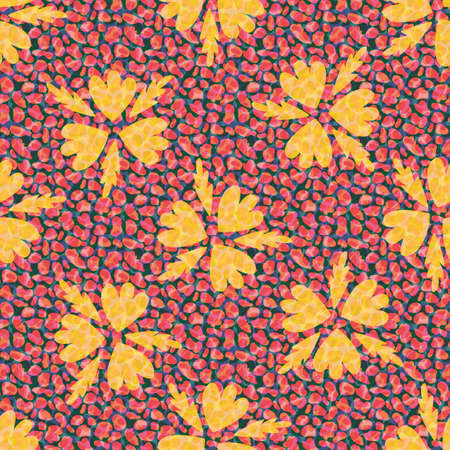 Faux leather and florals texture vector seamless pattern background. Backdrop with tropical color blended transparent layers of animal print and petals. Painterly repeat for packaging or fabric 免版税图像 - 168068419
