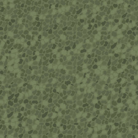 Vector dense sage green pebble pattern background. Monochrome oval circle shapes backdrop. Round grain granite particles.Igneous rock texture mineral crystals. Stone surface abstract repeat