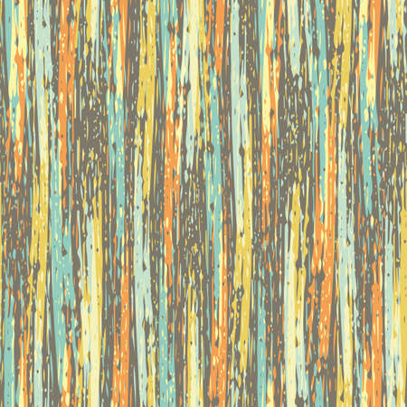 Abstract striped painterly vector seamless pattern background. Backdrop with blended irregular vertical paint stripes in warm colors. Layered ink paint effect. Modern texture weave all over print.