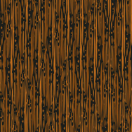 Abstract densely striped painterly vector seamless pattern background. Backdrop with irregular vertical paint thin stripes and dots in terracotta ochre and black. Earthy paint modern texture repeat.