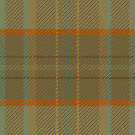 Woven tartan seamless vector pattern background. Ochre and sage green plaid weave grid backdrop. Blended woven wool fabric vintage check square geometric texture. Stylish woolen cloth all over print