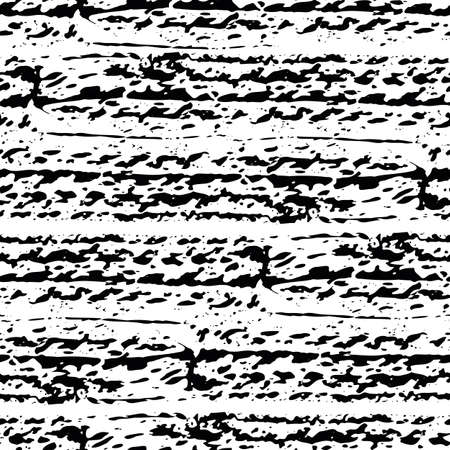 Abstract car or bike tyre vector striped seamless pattern background. Painterly textured wheel tread horizontal stripes. Monochrome black and white backdrop. Grunge geometric repeat for packaging