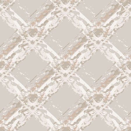 Burlap texture natural beige vector seamless pattern background. Canvas texture fiber backdrop diagonal painterly blended faux watercolor grid. Beige monochrome overlapping weave stripes for wellness