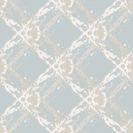 Marbling style burlap texture natural beige vector seamless pattern background. Fiber texture diagonal grid backdrop painterly faux watercolor Pastel blue beige overlapping weave blend for wellness