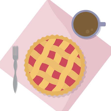 Berry pie. Concept with pie