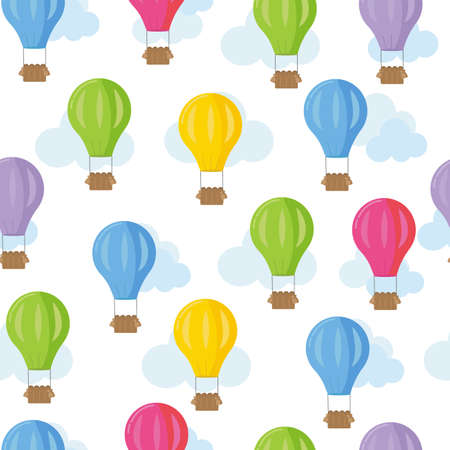 Seamless pattern with balloons in bright colors.