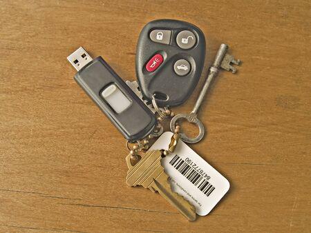 set of modern keys Stock Photo