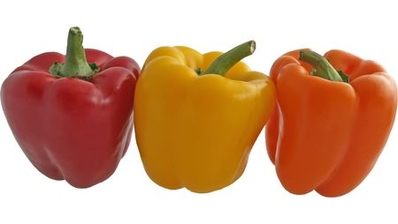 three peppers in a row